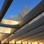 Structure Bois durant la phase chantier